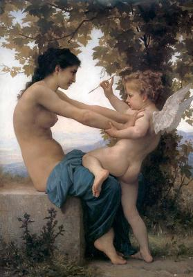 F_Young Girl Defending Herself against Eros 1880