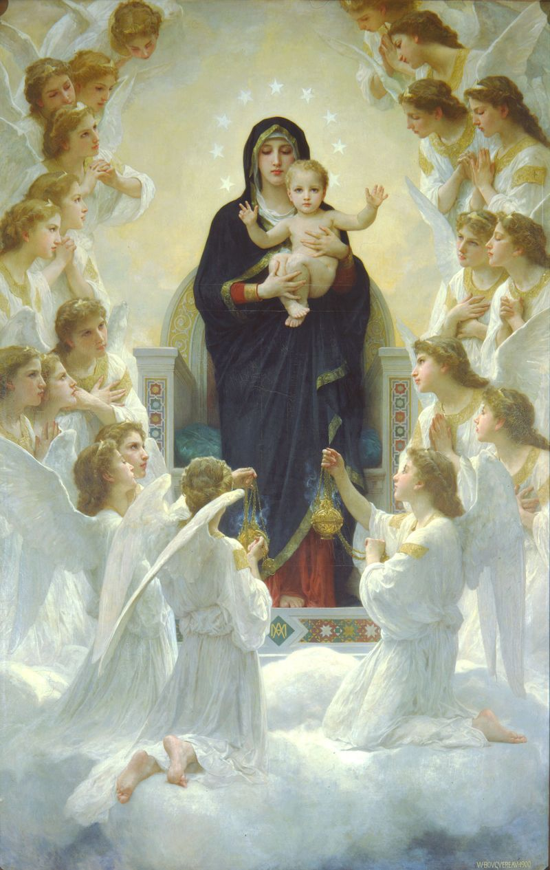 Bouguereau_The_Virgin_With_Angels