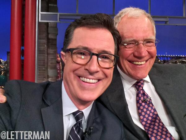 ColbertLettermanSelfie